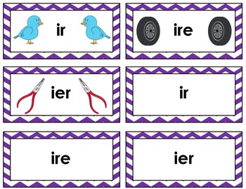 Word Sort - R-Controlled Vowel Sounds