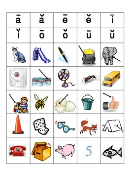 Word Sort Review - Long and Short Vowels