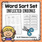 Inflected Endings Word Sort Set