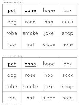 Long Vowel Word Sorts (Long Vowel & Vowel Teams)