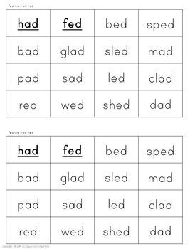 Short Vowel Word Sort Set