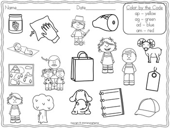 Word Sort Short a -am, -ad, -ag, and -ap Story Sam and the Bag