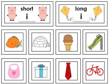 Word Sort - Short and Long Vowel Sounds