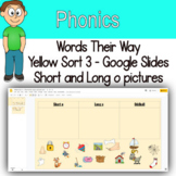 Word Sort - Short and long o picture sort Google Slides