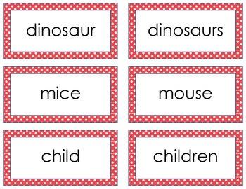 Word Sort - Singular and Plural Nouns