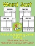 Word Sort Spelling Center - Grade 1- Aligned with Journeys