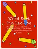 Word Sort Tic-Tac-Toe