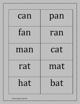 Word Sort Using -an and -at