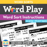 Word Sort Visual Instructions Posters • Words Their Way Wo
