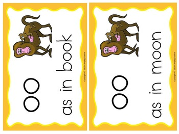 Word Sort Vowel Digraph oo Story Baboon