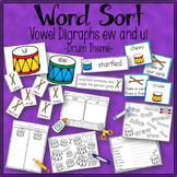 Word Sort Vowel Digraphs ew and ui  Max Found Two Sticks