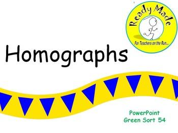Word Sort Warm Up Green 54 Homographs