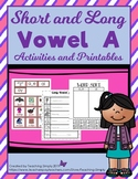 Long Vowel a Picture and Word Sorting Activities
