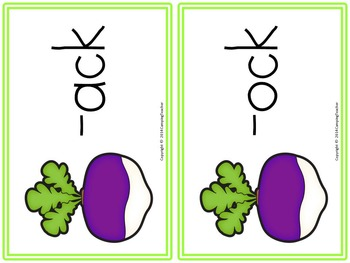 Word Sort ack and ock The Enormous Turnip