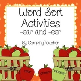 Word Sort and Activities for -ear and -eer Johnny Appleseed
