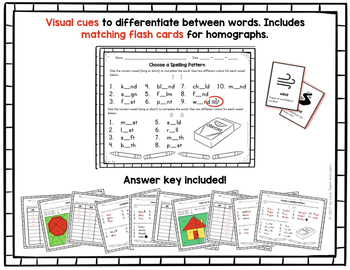 Word Sort and Center Activities : Short and Long I & O