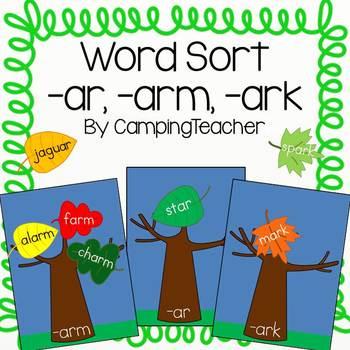 Word Sort -ar, -arm, -ark
