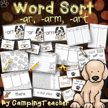 Word Sort ar, arm, art Story Did You See Chip?