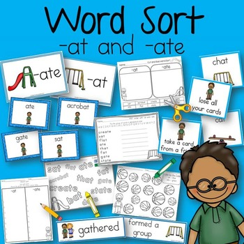 Word Sort at and ate Wilson Sat Alone