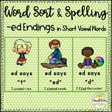 ed Endings with Short Vowels Word Sort for Inflectional Endings