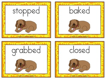 Word Sort -ed endings Henry and Mudge
