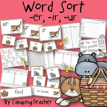 Word Sort er, ir, ur Story On the Way to the Pond