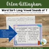 Long Vowel Sounds of Y