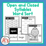 Word Sort for Open and Closed Syllables