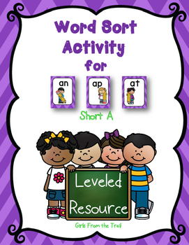 Word Sort for Short A Featuring AN, AP, and AT Word Families
