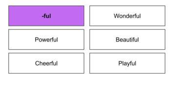 Word Sort for Suffix -Ful