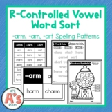 Word Sort for -arm, -arn, and -art Bossy R Word Families