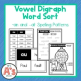 Word Sort for au and aw Vowel Digraphs