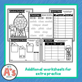Word Sort for ch, tch, and wh Digraphs