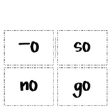 Word Sort for o, ow, and oat Long O Spelling Patterns
