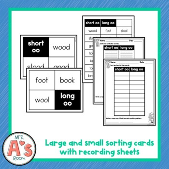 Word Sort for Short oo and Long oo