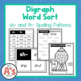Word Sort for sh and th Consonant Digraphs
