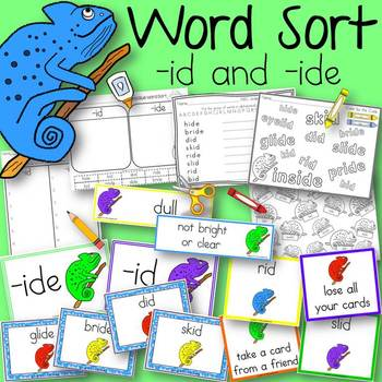Word Sort id and ide The Mixed-Up Chameleon