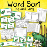 Word Sort -ing and -ang Story Where Do Frogs Come From?