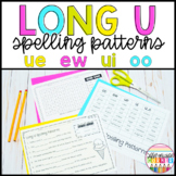 Worksheet Pack long u spelling patterns (ue, ui, oo, ew)