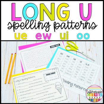 Long U Oo Ue Ew Worksheets & Teaching Resources | TpT