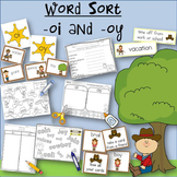 Word Sort oi and oy How I Spent My Summer Vacation