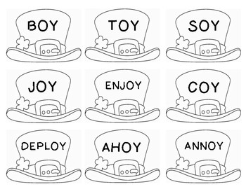 Word Sort- oi, oy