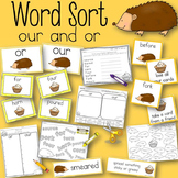 Word Sort or and our Hedgehog Bakes a Cake