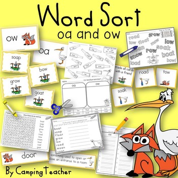 Word Sort ow and oa The Fox and the Stork Fable
