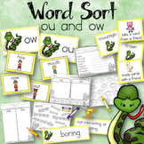 Word Sort ow and ou The Day Jimmy's Boa Ate the Wash