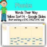 Word Sort - short and long o (CVC, CVCe, CVVC -oa) Google Slides