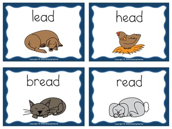 Word Sort short vowel e (with ea) Story Sleep is for Everyone