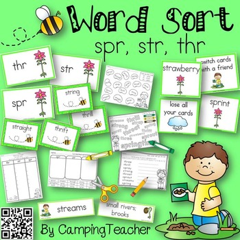 Word Sort spr, str, and thr From Seed to Plant