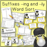 Word Sort suffixes ing and ly The Emperor's Egg