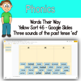 Word Sort  three sounds of the past tense 'ed' Google Slides